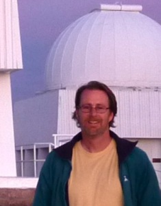 Dr. Penprase at the Mauna Kea observatory.